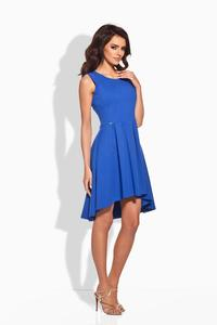 Blue Dipped Hem Coctail Dress