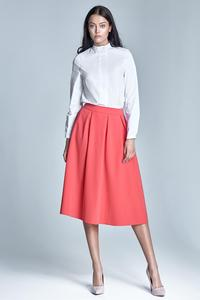 White Elegant Stand-up Collar Blouse