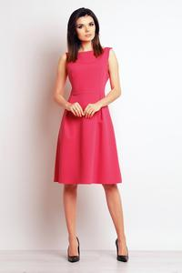 Pink Sleeveless Midi Dress