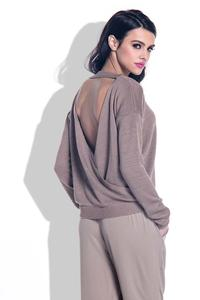 Cappuccino Open Back Light Sweater