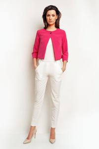 Pink One Button Short Bolero Blazer