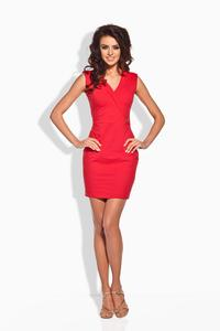 Red Bodycon FIt V-Neckline Mini Dress