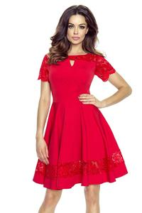 Red Coctail Dress with Lace