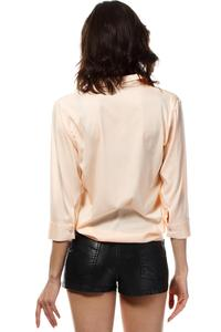Salmon Color Stylish 3/4 Sleeves Shirt