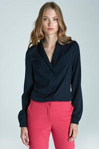 Dark Blue Chic&Stylish Soft Office Shirt