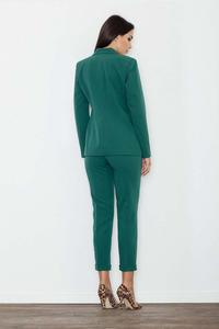 Green Elegant Cigarette Ladies Pants