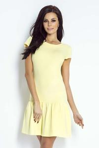 Yellow Mini Dress with a Frill