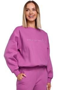 Sweatshirt with embroidery (Lavender)