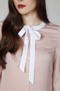 Pink Retro Style Shirt with Bow