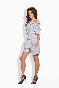 Grey Short Ladies Jumpsuit