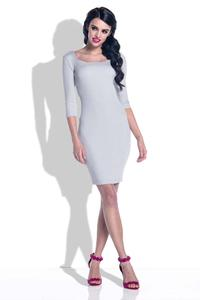 Grey Knitted Bodycon Dress