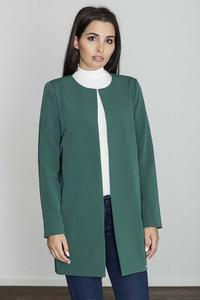 Green Round Neckline Open Ladies Blazer