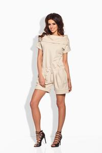 Beige Short Ladies Jumpsuit