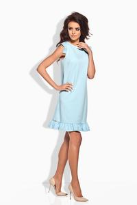 Light Blue Romantic Frill Mini Coctail Dress
