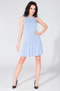 Light Blue Summer Frilled Dress