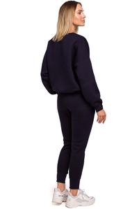 Knit Pants with Pockets (Navy Blue)