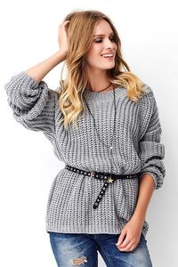 Gray Oversize English Sweater