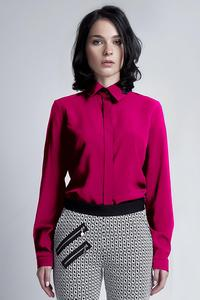 Fuchsia Long Sleeves Classic Ladies Shirt