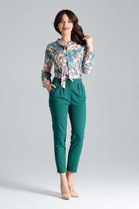 Green 7/8 Cigarette Pants