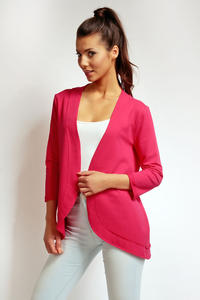 Dark Pink 3/4 Sleeves Light Ladies Cardigan