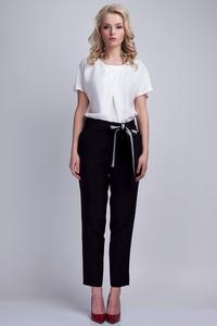 Black Elegant Pants with Sash