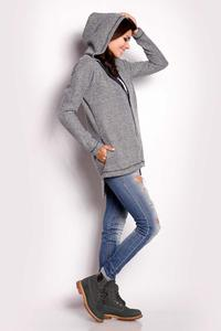 Grey Hooded Full Zip Jacket