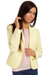 Long Lapels Yellow Coat with Single Button Fastening