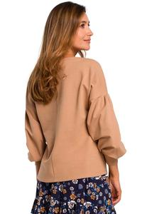 Cappuccino Box Blouse with Puffy Sleeve