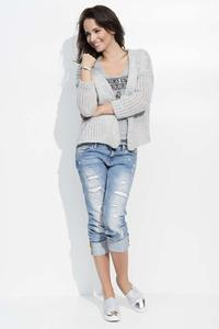 Light Grey Short Ladies Cardigan