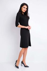 Black Midi Dress Awama 1/2 Sleeves