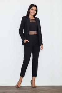 Black Elegant Cigarette Ladies Pants