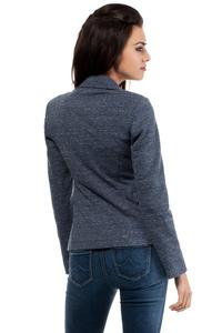 Dark Blue Slim Waist Classic Ladies Blazer