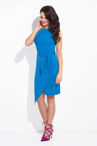 Blue  Wrap Asymerical Dress