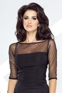 Black Transparent Sleeves&Neckline Blouse