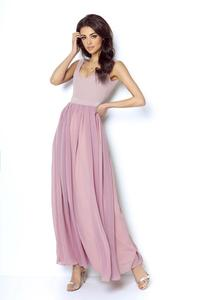Maxi Chiffon Dress Open Back Cut