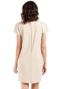 Beige Simple Style Short Sleeves Dress
