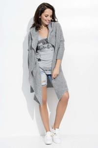 Dark Grey Long Hooded Cardigan