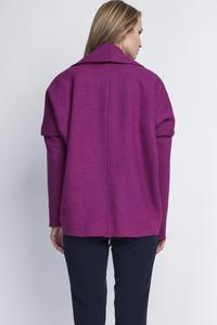 Fuchsia Elegant Oversized Office Style Cardigan