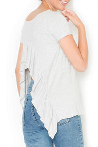 Light Grey Blouse with Frill at The Back