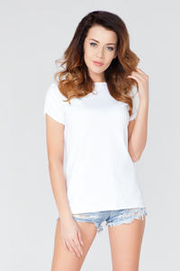 White Cut Out Back Classic T-shirt