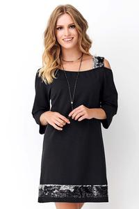 Black Loose Dress with sequins