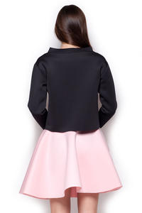 Black Wide Turtle Neck Drop Shoulder Blouse