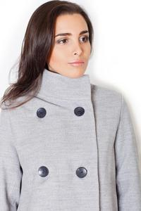 Grey Short Fall/Spring Jacket with Zippers