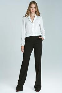 Black High Waist Design Elegant Long Trousers