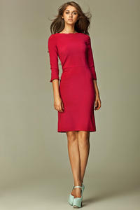 Maroon Most Elegant Bardot Pencil Dress