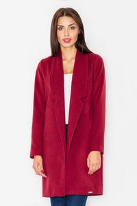 Dark Red Classic Short Coat