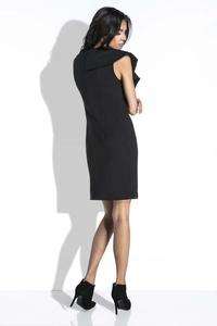 Black Coctail Mini Dress with a Frill
