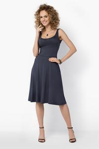 Dark Grey Casual Knee Length Summer Dress