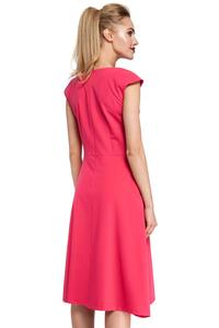 Classic Flared Pink Dress With a Frill