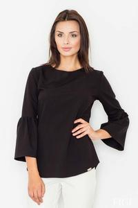 Black 3/4 Sleeves Blouse
